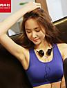 Per donna Nero Blu Gli sport Curva Elastene Reggiseni sportivi Top Yoga Pilates Esercizi di fitness Abbigliamento sportivo Traspirante Morbido Elasticizzato