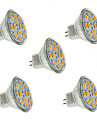 2W GU4(MR11) LED Spotlight MR11 12 leds SMD 5730 Decorative Warm White Cold White 240-260lm 2800-3200K DC 12V