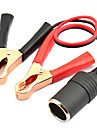 Jtron 12~24V Car  Lighter Charger + 10A Battery Terminal Crocodile Clamp Clip - (Red & Black)