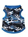 Chat Chien Tee-shirt Vetements pour Chien camouflage Noir Bleu Coton Costume Pour les animaux domestiques Homme Femme Mode