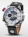 WEIDE Homme Montre numerique / Montre Bracelet Alarme / Calendrier / Chronographe Cuir Bande Charme Noir