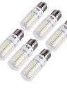 YouOKLight 6pcs 15 W 1350 lm E14 / E26 / E27 LED Corn Lights T 56 LED Beads SMD 5730 Decorative Warm White / Cold White 220-240 V / 110-130 V / 6 pcs / RoHS