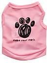 Cat Dog Shirt / T-Shirt Dog Clothes Floral / Botanical Black Blue Pink Terylene Costume For Summer Men\'s Women\'s Fashion