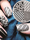 1pcs Plate Stamping Elegant / Mode Nail Art Design Design Tendance Quotidien