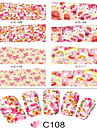 1pcs Autocollant d\'art de clou Autocollant de transfert d\'eau Fleur Dessin Anime Adorable Maquillage cosmetique Nail Art Design