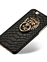 Lion Head Door Holder Style PU Leather Back Cover for iPhone 6 (Assorted Colors)