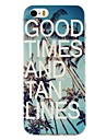 For iPhone 5 Case Pattern Case Back Cover Case Word / Phrase Soft TPU iPhone SE/5s/5