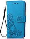 Case For Samsung Galaxy Samsung Galaxy Case Card Holder Wallet with Stand Flip Embossed Full Body Cases Flower Soft PU Leather for S5
