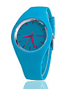 Femme Montre Tendance Montre Decontractee Quartz Silikon Bande Noir Blanc Bleu Rouge Orange Marron Vert Rose Violet Jaune Rouge Rose
