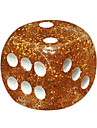 Royal St. 16 Mm Gold Interest Dice Onion Rounded Resin Color Boy Ktv Bars Commonly Used Resin Material 20 Grains