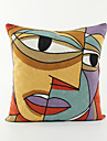 1 pcs Cotton Pillow Case, Embellished&Embroidered Novelty Traditional Traditional/Classic Retro