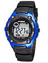 SYNOKE Enfant Montre de Sport Montre Bracelet Numerique LCD Calendrier Chronographe Etanche penggera Lumineux Caoutchouc Bande Noir