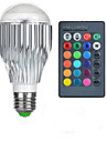 600-800lm E26 / E27 LED 글로브 전구 A50 1 LED 비즈 고성능 LED 리모컨 작동 RGB 85-265V