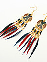 Women\'s Drop Earrings Tassel European Fashion Resin Feather Alloy Jewelry For Party Daily Casual