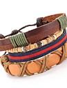 Punk Style Beads Vintage PU Leather Bracelet Leather Bracelets Wrap Bracelets Daily / Casual 1pc