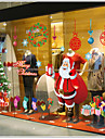 Foreign Christmas Tree Wall Stickers New Year Festive Old Shop Window Sticker Glass Door Decorations