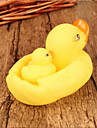 Bath Toy Yellow Duck Squeeze Toy 1 Big 1 Small