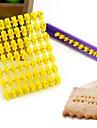 뜨거운 판매 알파벳 숫자 쿠키 비스킷 편지 스탬프 점자 프린터의 퐁당 케이크 장식 금형 제동 커터 임의의 색상