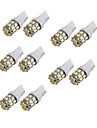 10pcs T10 Coche Bombillas 2.2W 280lm 24 Luces interiores
