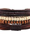 Bracelet Bracelets Cuir Forme Geometrique Mode Bohemia style Ajustable Quotidien Decontracte Regalos de Navidad Bijoux Cadeau Brun,1pc