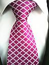 Alla moda Rosa vivo Tessuto Da uomo Tie Bar-1 pezzo