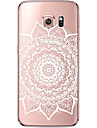 Pour Samsung Galaxy S7 Edge Transparente Motif Coque Coque Arriere Coque Mandala Flexible PUT pour SamsungS7 edge S7 S6 edge plus S6 edge