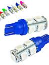 JIAWEN 10pcs T10 מכונית נורות תאורה 1.2W SMD 5050 85lm אור אחורי / מנורה דקורטיבית / תאורת עבודה