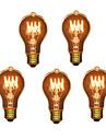 5pcs a19 e27 40w лампа накаливания с лампой накаливания для барного отеля (220-240v)