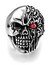 Men\'s Ring - Stainless Steel Skull Punk, European 8 / 9 / 10 Silver For Halloween / Gift / Daily