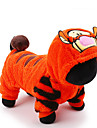 Cat Dog Costume Jumpsuit Dog Clothes Cartoon Orange Plush Fabric Costume For Pets Men\'s Women\'s Cute Holiday Cosplay