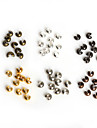 Beadia 100Pcs 3mm Iron Crimp Beads Cover Spacer Beads Jewelry Findings Accessory