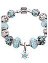Women\'s Crystal Crystal Rhinestone Silver Plated Charm Bracelet Strand Bracelet - Festival / Holiday Durable European Geometric Fuchsia