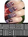 1шт 12 * 6см искусства ногтя штамповки пластины красивый цветок красочное изображение дизайн ногтей инструменты Ле cool01-10