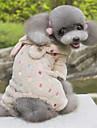 Chien Pulls a capuche Combinaison-pantalon Vetements pour Chien Mignon A pois Rouge Rose Marron Costume Pour les animaux domestiques