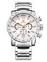 MEGIR Hommes Montre de Sport Montre Bracelet Quartz Quartz Japonais Calendrier Chronographe Etanche Acier Inoxydable Bande Luxe Noir Blanc
