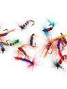 """12 pcs Fishing Lures Soft Bait Flies g / Ounce, 35 mm / 1-3/8"""" inch, Feather Carbon Steel Sea Fishing Fly Fishing Bait Casting Lure"""