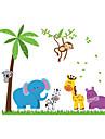 Пейзаж Животные ботанический Наклейки Простые наклейки Декоративные наклейки на стены, ПВХ Украшение дома Наклейка на стену Стена Стекло