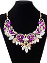 Women\'s Choker Necklace - Imitation Diamond Drop Fashion White, Purple, Red Necklace Jewelry For Wedding, Party