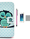 iPhone 7 PlusCOCO FUN® Sleeping Cute Owl PU Leather Full Body Case with Film, Stand and Stylus for iPhone 5/5S