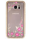 용 Samsung Galaxy S7 Edge 크리스탈 / 도금 / 투명 / 패턴 케이스 뒷면 커버 케이스 꽃장식 하드 메탈 Samsung S7 edge / S7 / S6 edge plus / S6 edge / S6 / S5