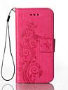 Capinha Para Samsung Galaxy Samsung Galaxy Capinhas Porta-Cartao Carteira Com Suporte Com Relevo Capa Protecao Completa Flor Rigida PU