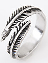 Men\'s Others Band Ring - Feather Personalized / Vintage / Open Silver Ring For Daily / Casual