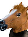 Horse Mask CreepyParty Novelty Halloween Costume Party Animal Head Sounding Mask Brown Horse
