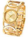 Жен. Часы-браслет Модные часы Кварцевый / Нержавеющая сталь Группа Кольцеобразный Elegant Серебристый металл Золотистый
