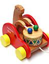 os de madeira urso tambor da crianca do bebe escalada de arrastar as criancas quebra-cabeca brinquedos educativos