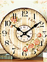 Moderne/Contemporain Traditionnel Retro Bureau / Affaires Niches Famille Ecole/Diplome Horloge murale,Rond Papier Autres 34CM/14英尺