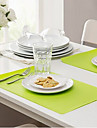 Rectangle Placemat Table Mat Anti-fouling EVA(Random Colour)