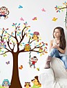 Fashion Story Tree Living Room Bedroom Children\'s Room Background Decorative PVC Removable Wall Stickers