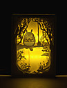 1PC  Totoro Three-Dimensional Carving  Silhouette Lamp  Light   Of The Bedroom   Photo Frame  Lamp Bedside Lamp