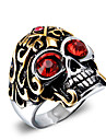 Men\'s Zircon Skull Statement Ring - Vintage / Fashion / Punk Red / Blue Ring For Christmas Gifts / Halloween / Daily